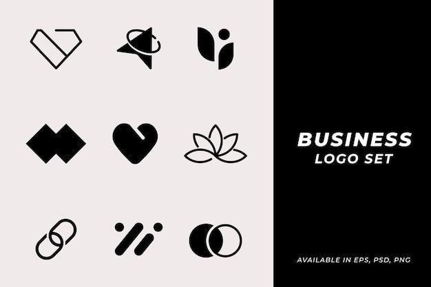 Conjunto de vector de logotipo de empresa clásica moderna