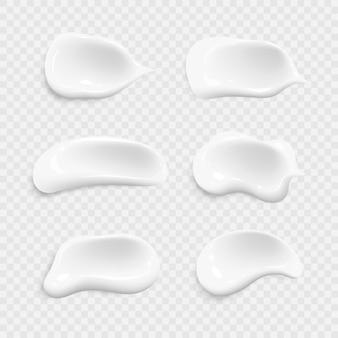 Conjunto de vector realista de trazos de pincel