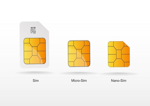 Conjunto de vector de tarjeta sim