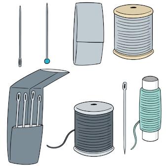 Conjunto de vectores de accesorios de costura