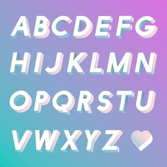 Conjunto de vectores del alfabeto