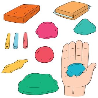 Conjunto de vectores de arcilla para niños