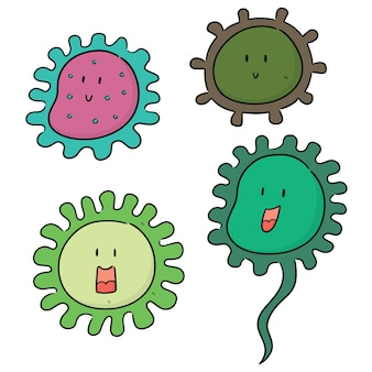 Conjunto de vectores de bacterias