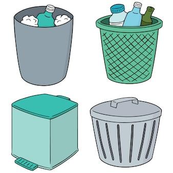 Conjunto de vectores de basura de reciclaje