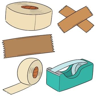Conjunto de vectores de cinta adhesiva