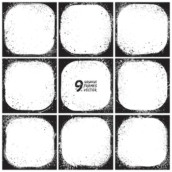 Conjunto de vectores de cuadros abstractos grunge