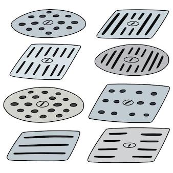 Conjunto de vectores de cubrir el desagüe