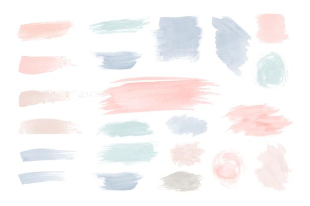 Conjunto de vectores de diseño colorido pincelada