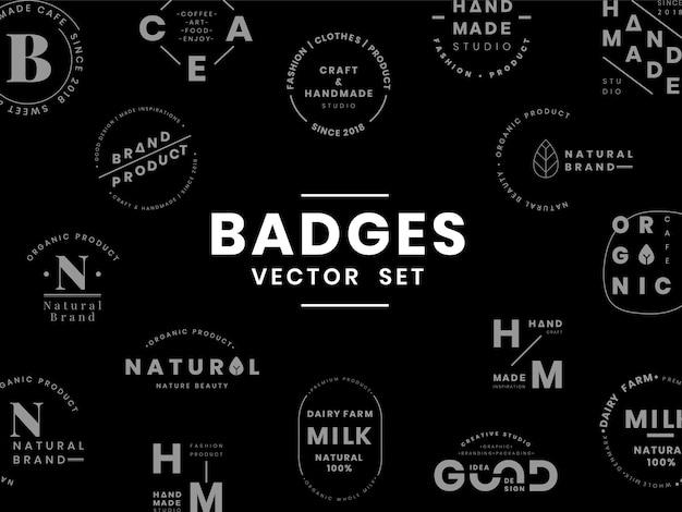 Conjunto de vectores de diseño de insignia de insignia