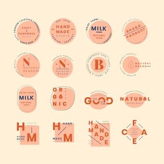 Conjunto de vectores de diseño insignia insignia