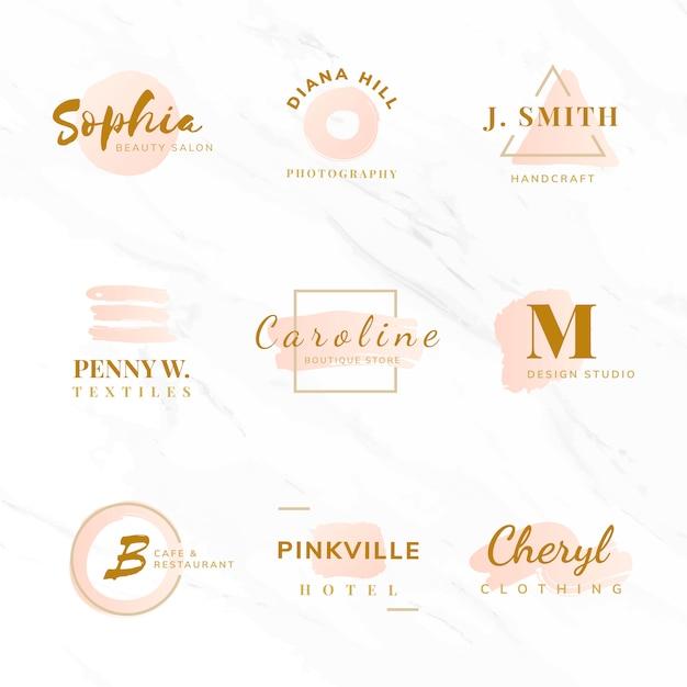 Conjunto de vectores de diseño de logotipo de belleza y moda.