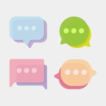 Conjunto de vectores de estilo moderno icono de chat
