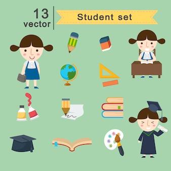 Conjunto de vectores de estudiantes