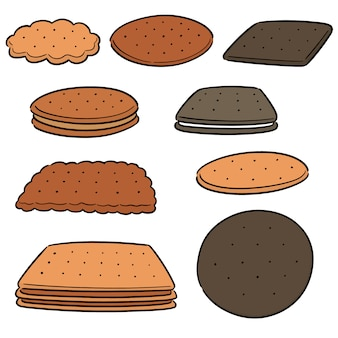Conjunto de vectores de galletas y galletas