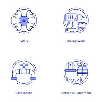 Conjunto de vectores de herramientas de reparación