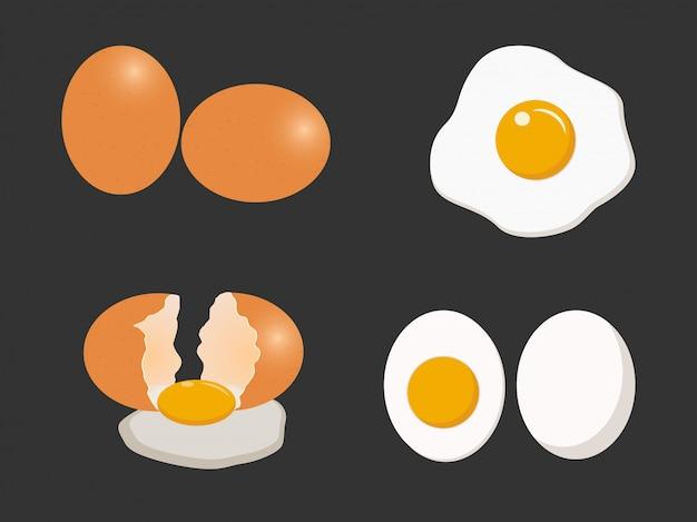 Conjunto de vectores de huevo
