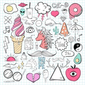 Conjunto de vectores de iconos femeninos