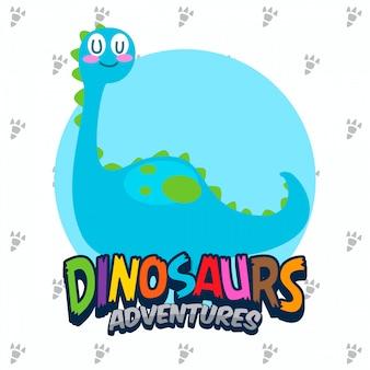 Conjunto de vectores lindos dinosaurios