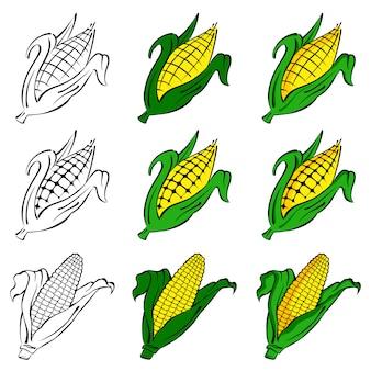 Conjunto de vectores de maíz