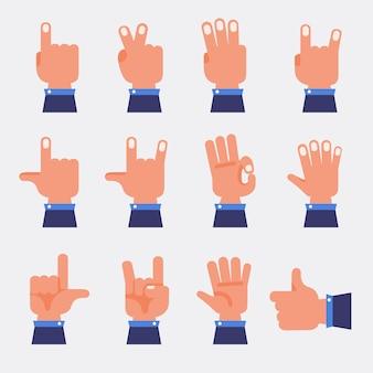 Conjunto de vectores de manos