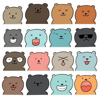 Conjunto de vectores de oso