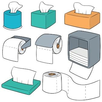 Conjunto de vectores de papel de seda
