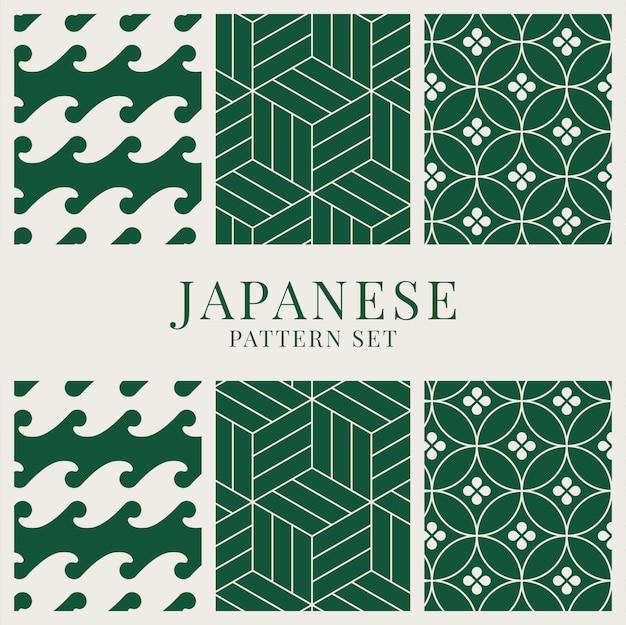 Conjunto de vectores patrón inspirado en japonés