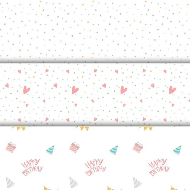 Conjunto de vectores de patrón de lunares de colores