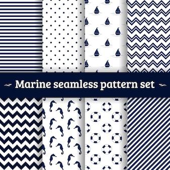Conjunto de vectores de patrones sin fisuras marinas