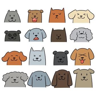 Conjunto de vectores de perro