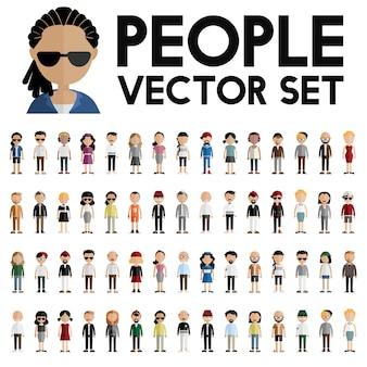 Conjunto de vectores de personas