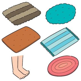 Conjunto de vectores de pie limpie