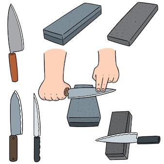 Conjunto de vectores de piedra de afilar