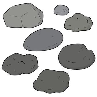 Conjunto de vectores de piedra
