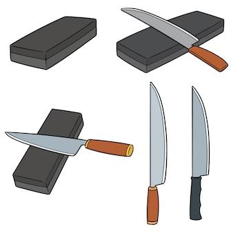 Conjunto de vectores de piedras de afilar