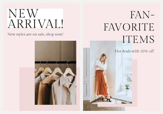 Conjunto de vectores de plantillas de negocios de moda ecológica