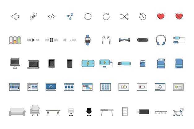 Conjunto de vectores de tecnología