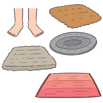 Conjunto de vectores de toallitas para los pies