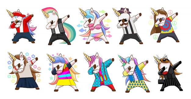 Conjunto de vectores de unicornio