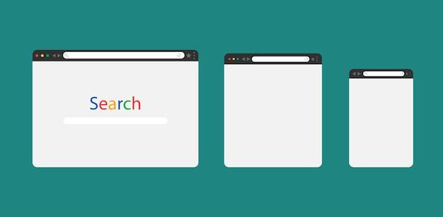 Conjunto de ventana del navegador web