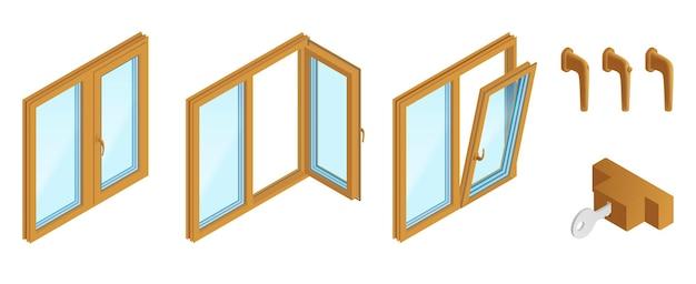 Conjunto de ventanas y accesorios.