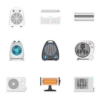 Conjunto de ventilador, estilo plano