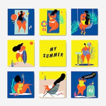 Conjunto verano en la playa