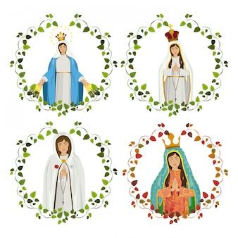 Conjunto de virgen maria