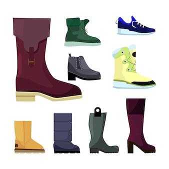 Conjunto de zapatos para mujer.