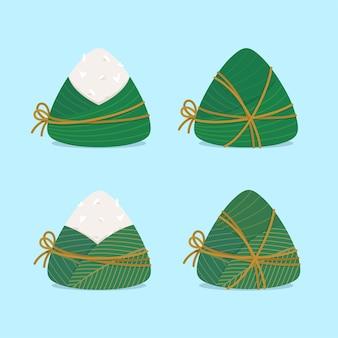 Conjunto zongzi de albóndigas de arroz pegajoso chino