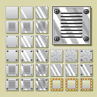 Conjuntos de azulejos militares para videojuegos.