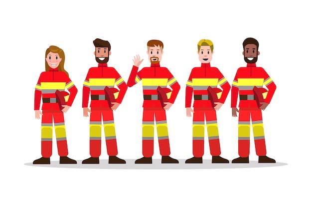 Conjuntos de equipo de lucha contra incendios