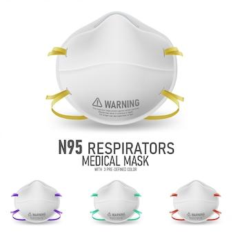 Conjuntos de máscara de respirador realista n95