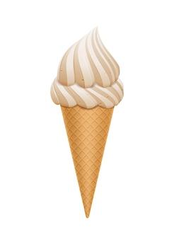 Cono de helado aislado